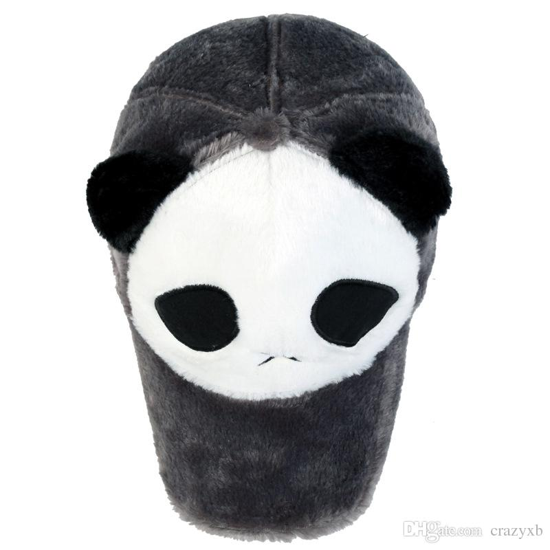 2018 Yeni moda Peluş Adam ve weman Kış Sıcak tutmak karikatür panda beyzbol şapkası Açık yürüyüşleri caps şapka toptan