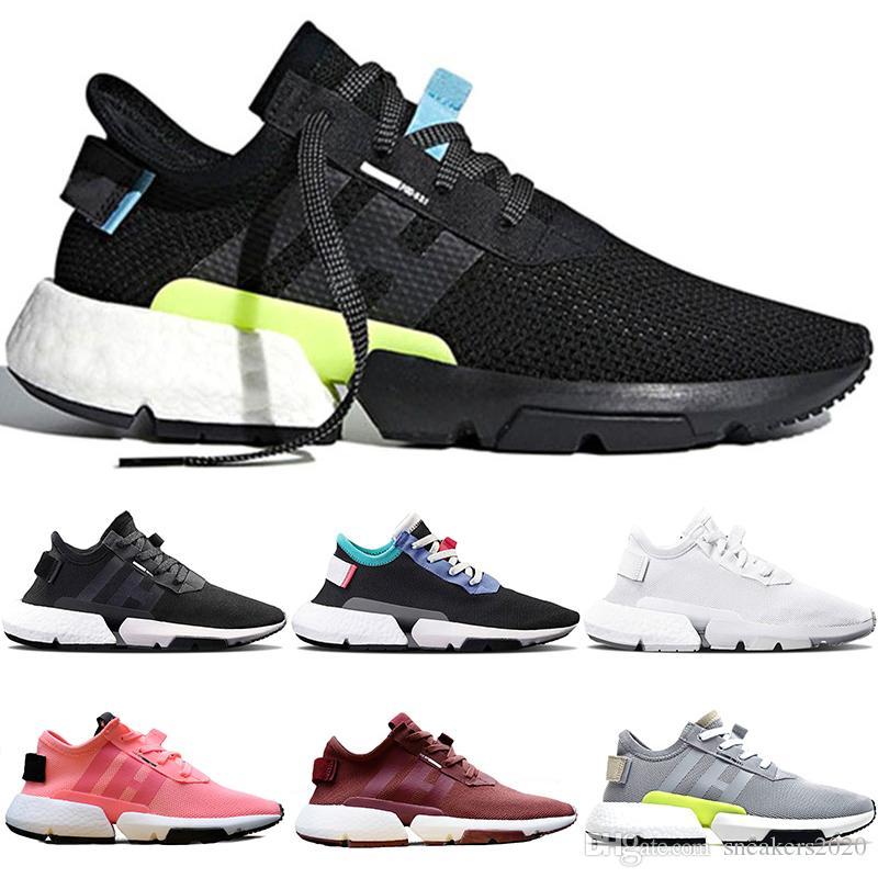 1f7b08004b Adidas Originals POD S3.1 System Boost Diseñador P.O.D POD S3.1 Sistema  Hombres Mujeres Zapatos Corrientes Triple Negro Blanco OG Gris Rojo  Entrenador Sport ...