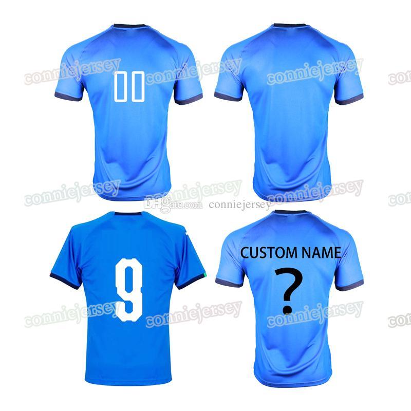 1dafc3997ea 2019 Italy Soccer Jersey 2018 Men Home Jerseys 18 19 Blue Soccer Shirt  Football Uniforms Custom Italia Sport Shirt Thailand Magliette Di Calcio  From ...