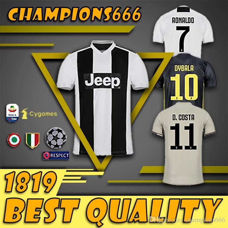 c2333ecf6 New 2019 RONALDO JUVENTUS Soccer Jersey 18 19 JUVE 2018 Home Away ...