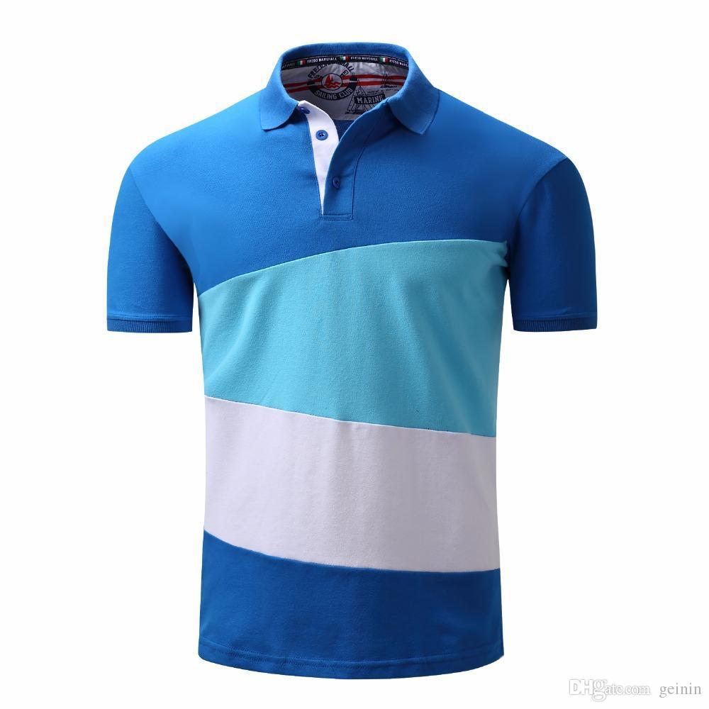 2aa2b8e0b 2019 2018 Summer Men Polo Camisa Cotton Shirt Polo Clothing Short Sleeve  For Business Work Top Polos From Geinin, $32.82 | DHgate.Com