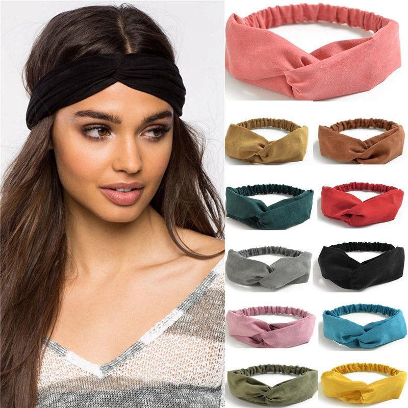2019 2018 Fashion Women Sports Gym Hair Band Stretch Head Wear Non Slip  Twist Knot Headband From Barryga 6fe45c5deda