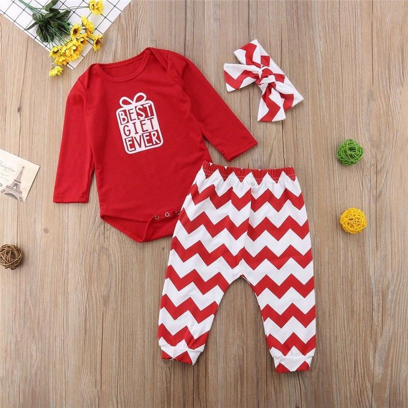 081b047eefa0 Autumn Long Sleeve Xmas Christmas Red Bodysuit Jumpsuit Pant ...