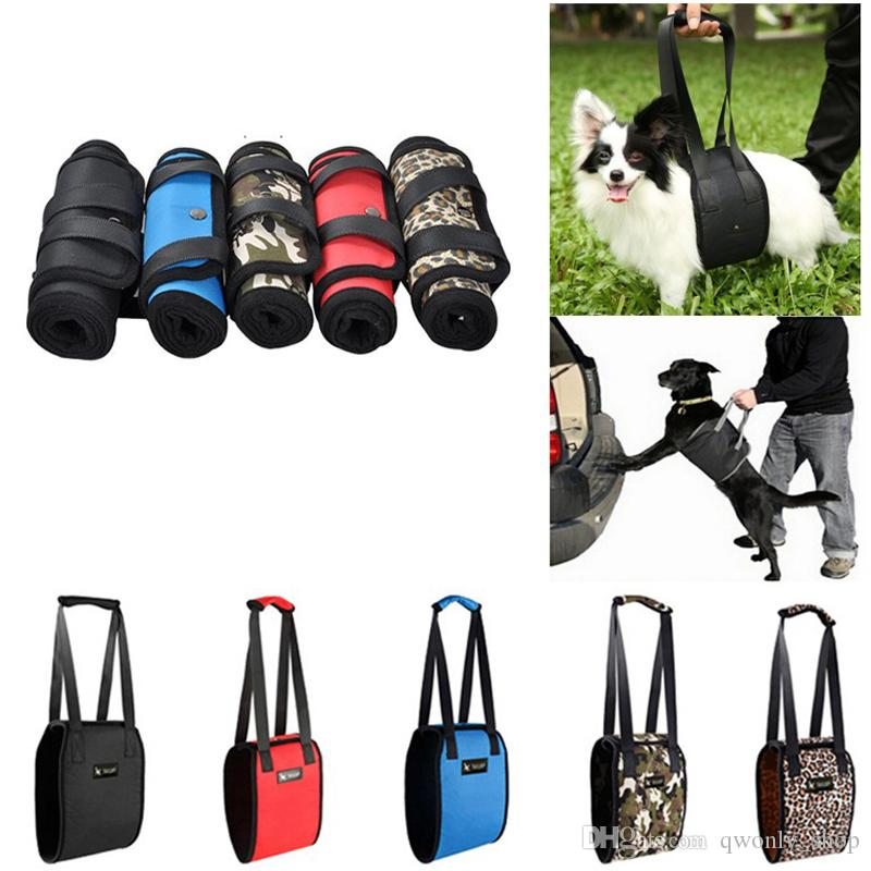 5 Colors Portable Dog Lift Support Auxiliary Belt Rehabilitation Harness  Assist Sling For Elderly and Sick Pet S-XL