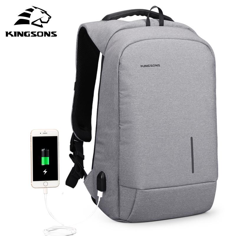 14bd72d490 Kingsons Men USB Charging Backpacks For Teenagers Anti Theft Notebook  Daypack 13 15 Inch Waterproof Laptop Backpack Travel Bags Water Backpack  Mesh Backpack ...