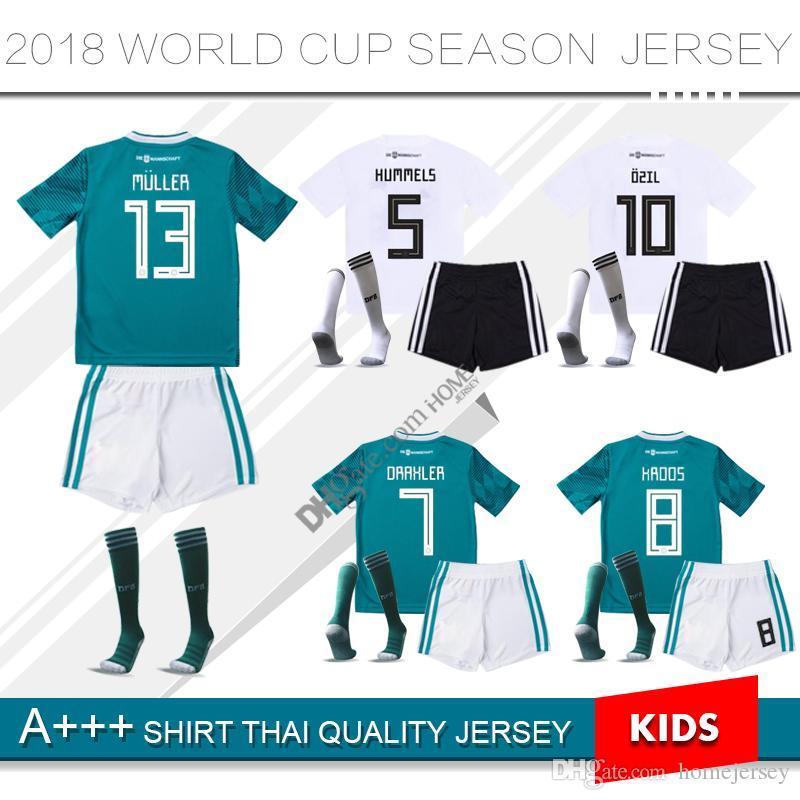 4a7a908d2 2019 2018 WORLD CUP GERMANY Kids Soccer Jersey 2019 Home MULLER OZIL KROOS  HUMMELS WERNER REUS SANE Camisetas De Futbol Maillot Uniform Away Kit From  ...