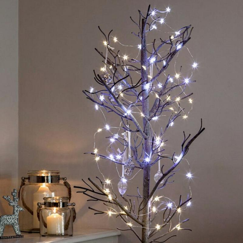 2m3m diy led star copper wire string lights fairy lights christmas tree wedding decoration operate twinkle christmas outdoor decorations cheap christmas - Cheapest Christmas Outdoor Lights Decorations