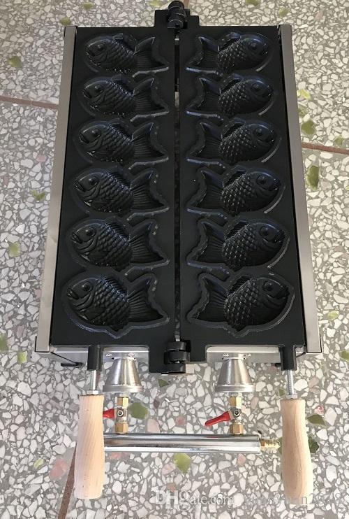 ~ Gas type fish waffle maker machine Taiyaki machine