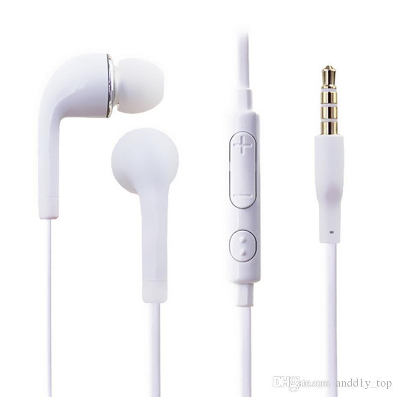 Mic ve Samsung Galaxy S7 S6 S5 S4 için Uzak Kulaklık ile J5 Kulaklık Kulak Kulaklık Stereo / yukarı