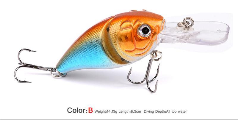 Новый PS Окрашенные Minnow VIB Рыболовные Приманки 14 г 8.5 см Пластиковые пресноводные walkdogging Приманки Глубина Плавания 0.6-1.5 м