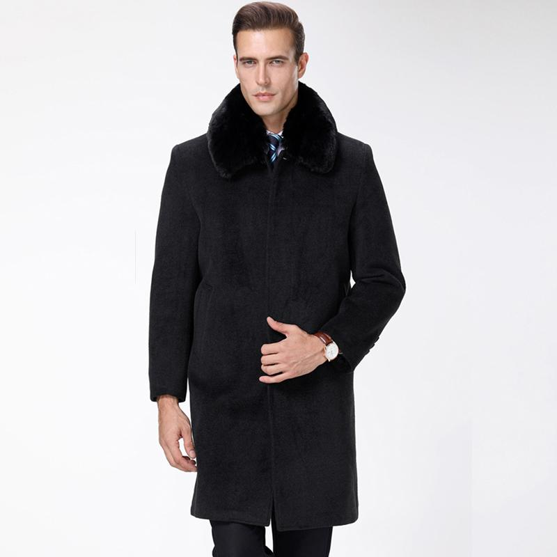 a21bd684b 2019 2018 Winter New Fashion Brand Coat Men Boy Boy Slim Fit Peacoat ...