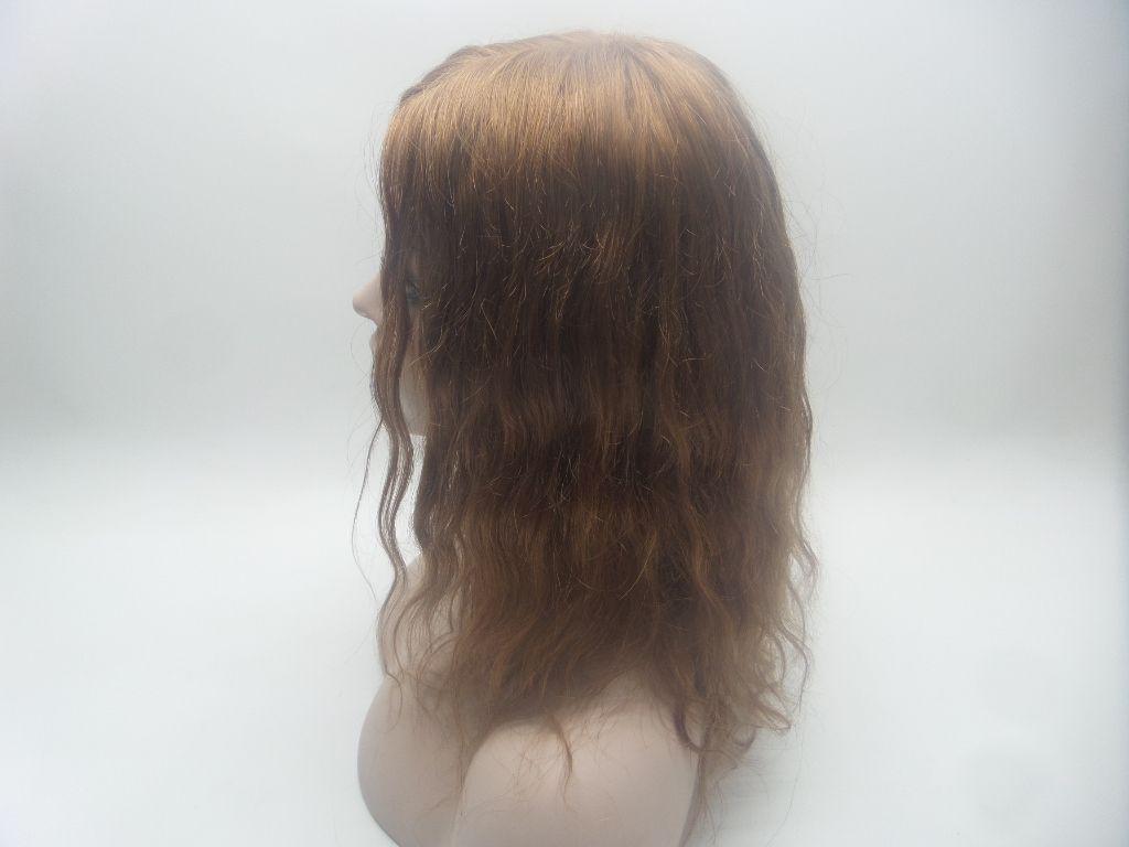 Full Lace Human Hair Wigs Color Dark Brown Senior silk wig Long Wavy Full Lace Wigs Brazilian Virgin Hair 100% With Bangs For women kabel