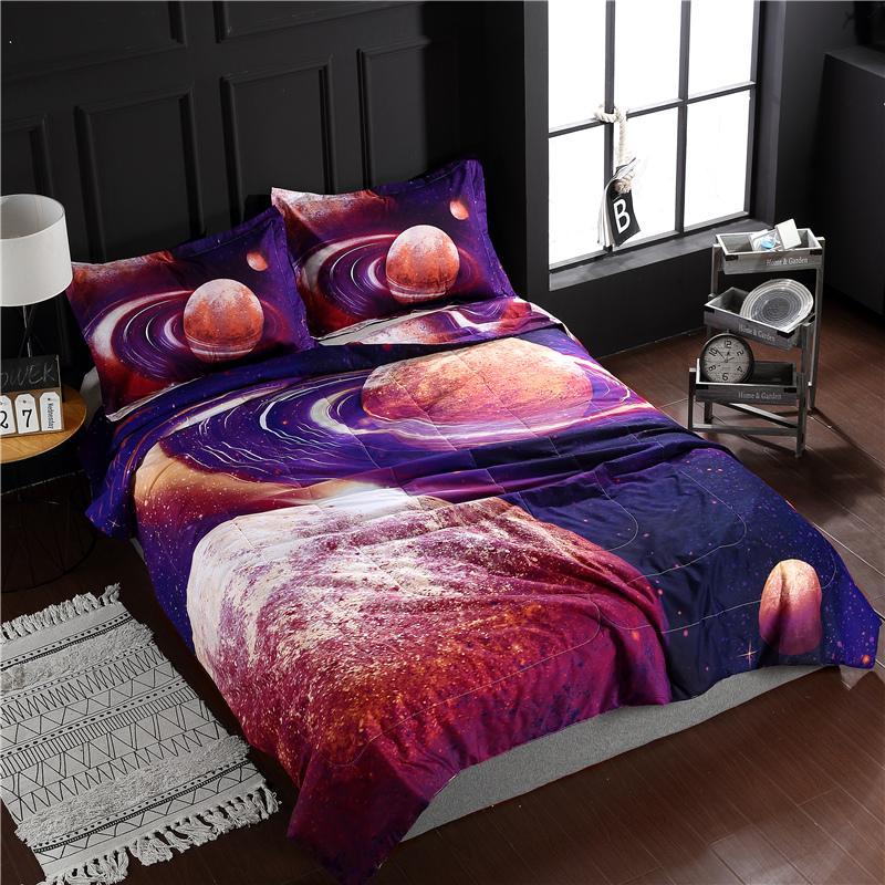 Acheter Bonenjoy Couette Literie Ensemble Queen Size Purple Galaxy