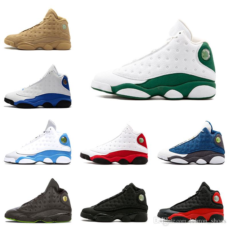 a32415c9008c5 Acquista Nike Air Jordan 13 13s Nuove Scarpe Da Basket Da Uomo 13s Ray  Allen Chicago Playoffs Pure Money Love Respect White 13 Scarpe Da  Ginnastica Sneaker ...