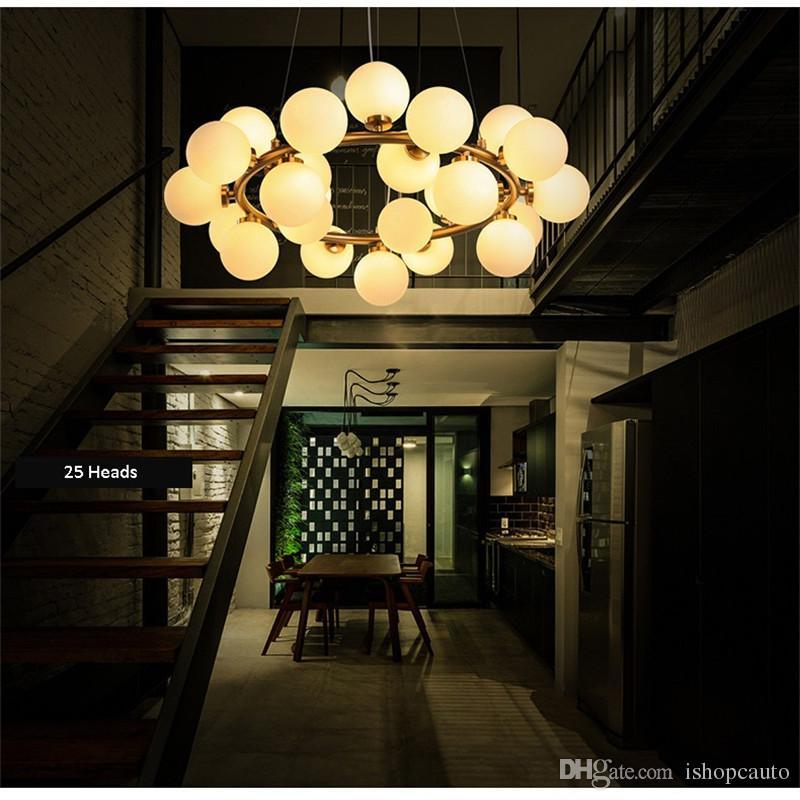İskandinav Sihirli Fasulye Kolye Lamba Yaratıcı Sanat Cam Top Avize Oturma Odası Bar Otel Basit Yemek Giyim Mağazası Asılı Lamba