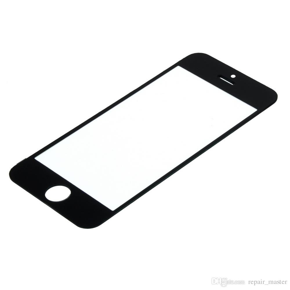 Best Quality Front Outer Glass Lens For iPhone 5/5S/5SE/5C Touch Screen Cover Replacement Black & White Color Front Glass Panel