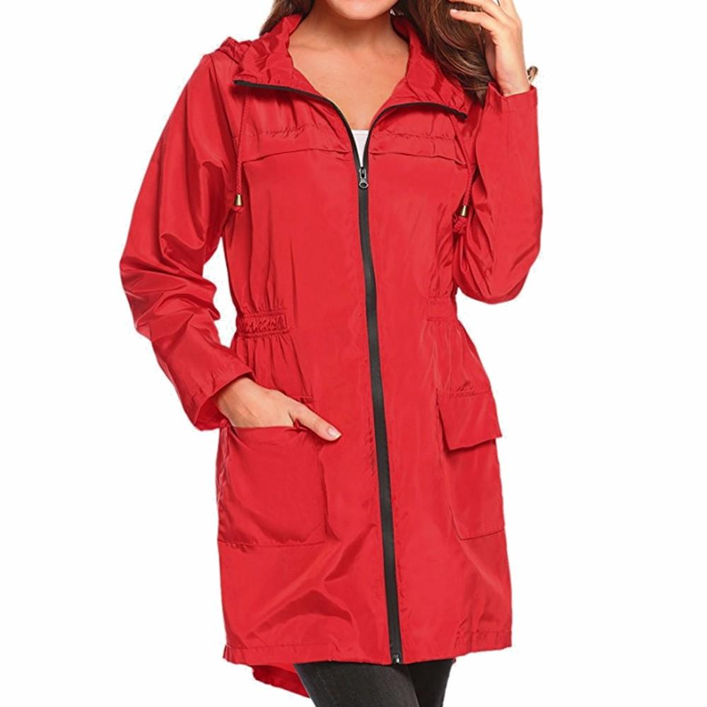 0198a365568d0b Women Lightweight Travel Waterproof Raincoat Hoodie Windproof Coat Jacket  2017 Autumn Winter Jacket Women Parkas For Outerwear Fashion Jackets Denim  Jacket ...