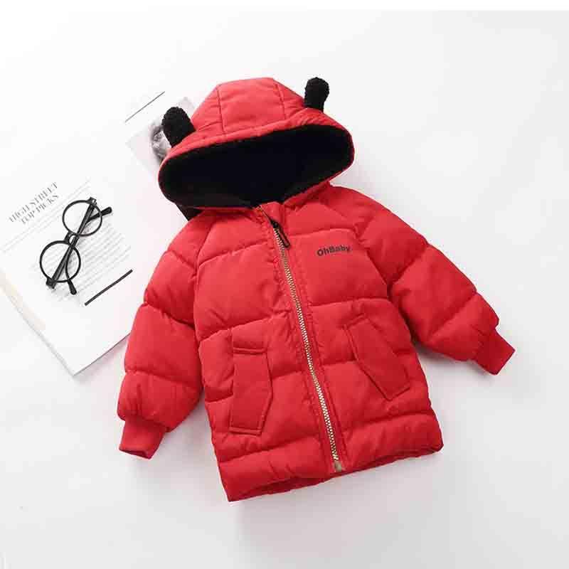 faeecbbf6a61 BibiCola Boy Winter Coat Girls Jacket Children Winter Fashion Hooded ...