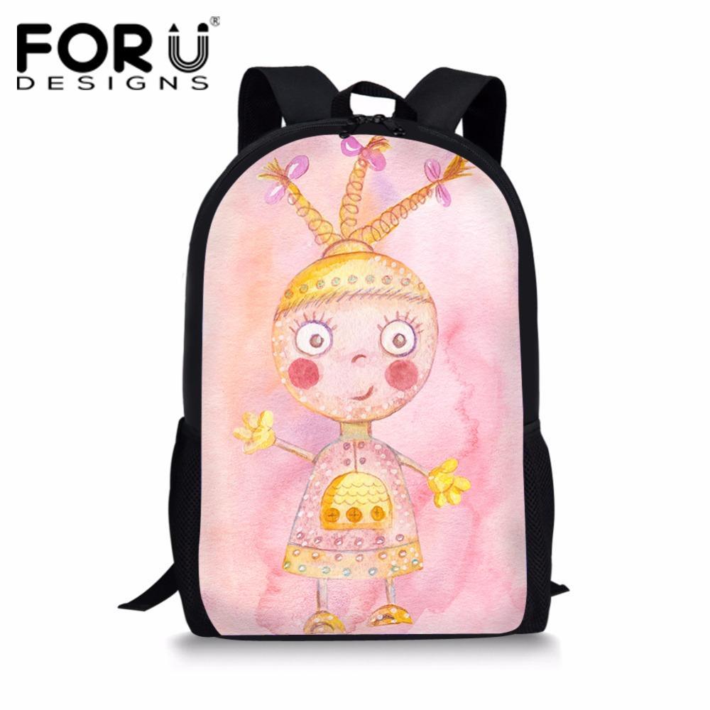 241eca449795 FORUDESIGNS Kids School Bags 3D Cartoon Cute Girls Prints Schoolbag ...