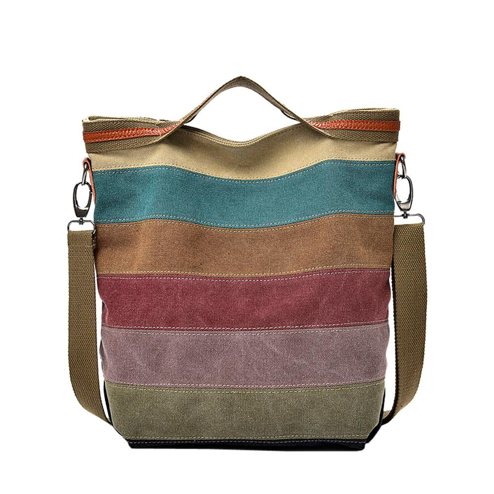 600bfc4c2ee5 Xiniu 2018 Fashion New Casual Women Canvas Splice Stripe Crossbody Bag  Crossbody Bags For Women Shoulder Bag Handbag Totes Leather Briefcase  Wholesale ...