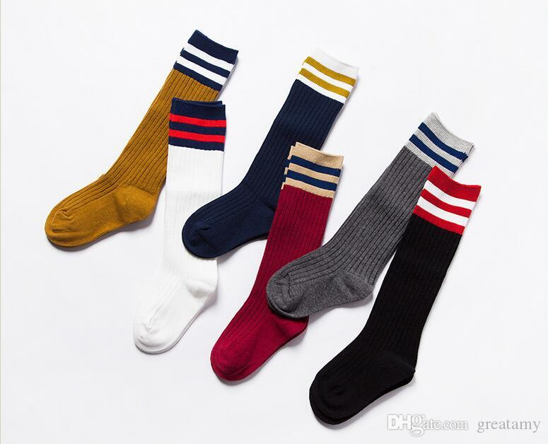 3888649ad Stripe Kids Tall Socks Fashion Hosiery For Boys Girls Spring Autumn  Children Cotton Sport Stockings Mix Color Online Shopping For Socks Shop  For Socks From ...