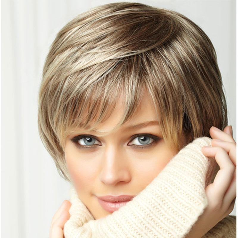 Picture Color Hair Afro Short Hair Cuts Blonde Bob Wig Fluffy