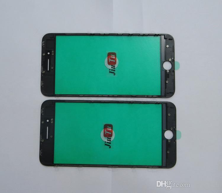 A+ Quality For iPhone 8G 8 Plus Outer Glass With Middle Frame Cold Press For Cracked LCD Refurbishment JiuTu