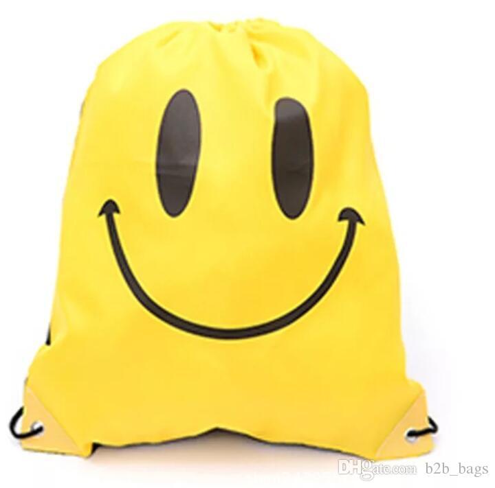 De Hombre Con La Mujer Tela Cordón Sonrisa Unisex Animados Compre Mochila Dibujos Para Mochilas Emoji Niños FPRBInW