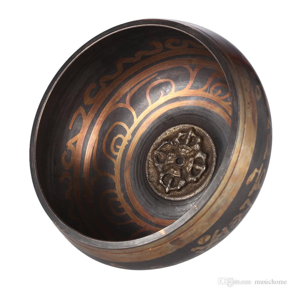 Exquisite 2.8 Inch Handmade Tibetan Bell Metal Singing Bowl With Striker