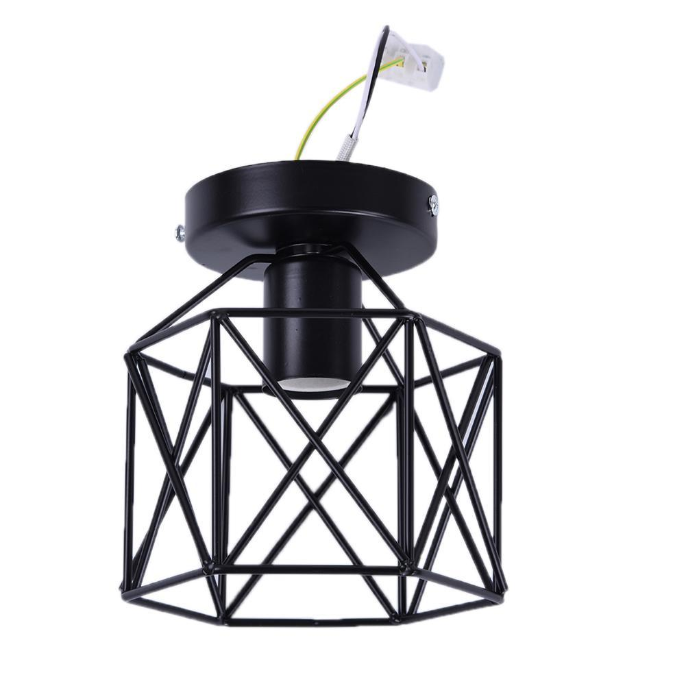 Creative Simple Iron Stand Metal Ceiling Lamp Holder Industrial Vintage Style Hanging Light Shade