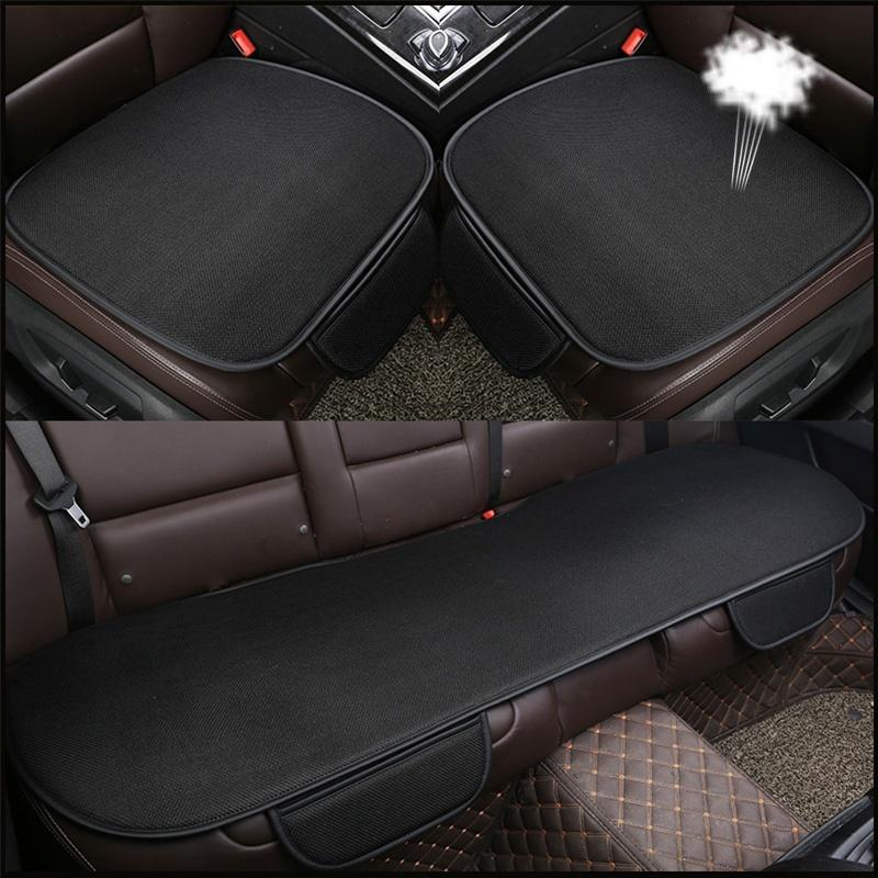 Universal Summer Car Seat Covers Set Cushion Ice Silk Mat Anti Slip Breathable Protector Auto Interior Accessories Winter Cover