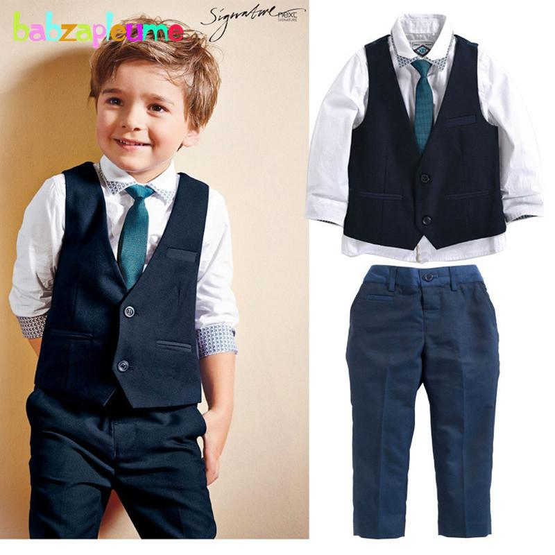 Grosshandel Gentleman Baby Boy Kleidung Hochzeit Kostum Kleinkind