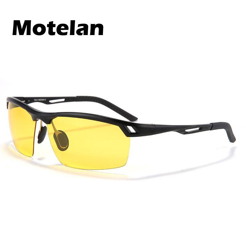 Compre 2017 Nova Lente Amarela Visão Noturna Polarizada Óculos De Sol Dos  Homens Anti Reflexo Óculos De Condução Óculos De Prata Preto Ouro 3 Cores  9550 De ... cd73363c39