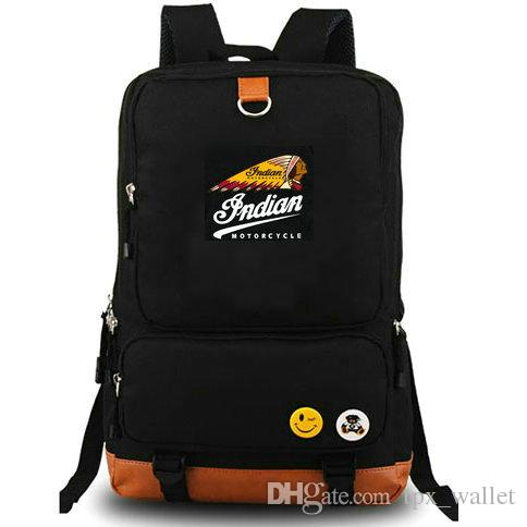 Indian Motorcycle Backpack Cool Race Daypack Schoolbag Leisure Rucksack  Sport School Bag Outdoor Day Pack Personalized Backpacks Hunting Backpacks  From ... 91d4d3c0f2a05