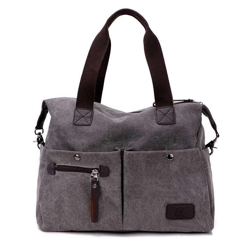 9cd65abf81fd High Quality Durable Canvas Shoulder Bag Casual Hobo Daily Purses Handle  Shoulder Crossbody Bag Tote Shopper Handbag