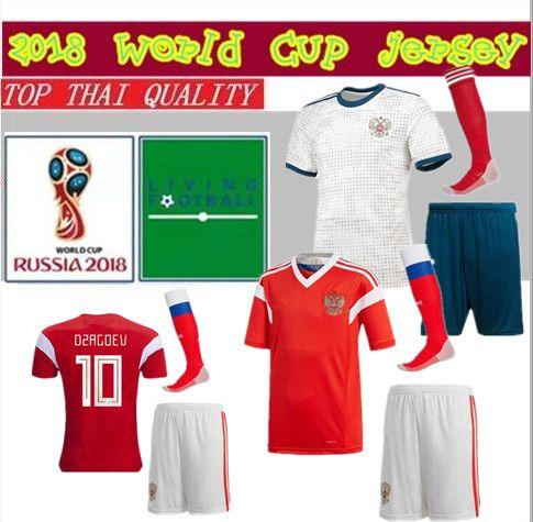 91ccfd7277 Compre 18 19 Rússia Soccer Jersey Kit 2018 2019 Copa Do Mundo VAZIN POLOZ  GLUSHAKOV ARSHAVIN DZAGOEV KOKORIN DZYUBA Adulto Camisas De Futebol  Uniforme De ...