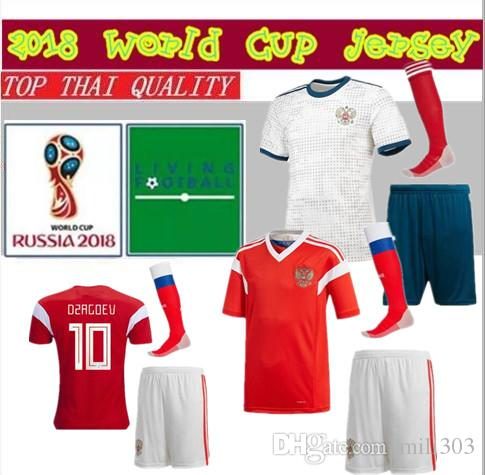 2019 18 19 Russia Soccer Jersey Kit 2018 2019 World Cup VAZIN POLOZ  GLUSHAKOV ARSHAVIN DZAGOEV KOKORIN DZYUBA Adult Football Shirts Uniform  From Mili303 3880fc9f2