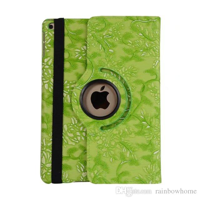 Polka Dot 360 Degree Rotating Magnetic PU Leather Stand Case Smart Cover Grape Grain Pattern for ipad Mini 3 4 5 6 Air 2 New 9.7 2017 10.5