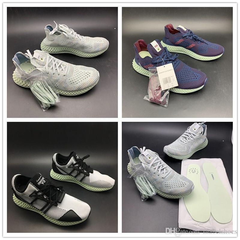 a0da0c9a14bc9 TOP Futurecraft 4D Print Run Shoes Invincible X Consortium Runner 4D Y 3  Runner 4D Grey Blue Black Mens Designer Sports Sneakers Womens Trail Running  Shoes ...