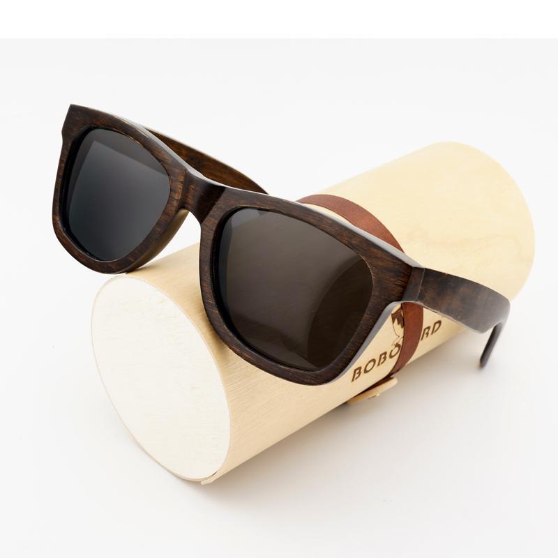 ddf9090f22b61 BOBO BIRD WAG005 100% Nature Ebony Wooden Sunglasses Unisex Polarized Sun  Glasses Male Oculos De Sol Feminino Fashion Accessor Mirrored Sunglasses  Heart ...