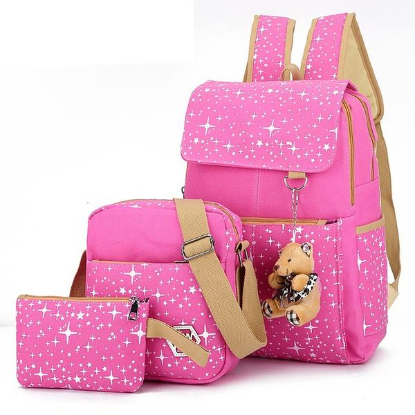 Kids Backpack Fashion School Bags For Girls Casual Children Bear Chain  School Bags Cute Baby Backpacks Set School Bag For Girls Sports Bags Bags  For Men ... ed39b1119a1cd