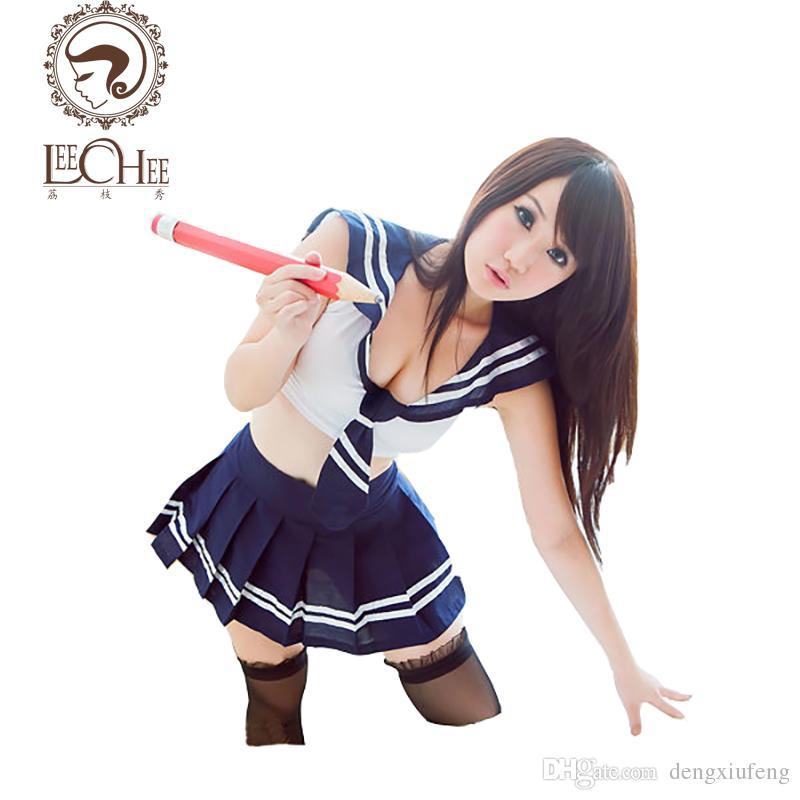 Leechee AY002 women langerie fantastic erotic sexy XXX cosplay uniform student uniform porn costumes porn sexy lingerie shop