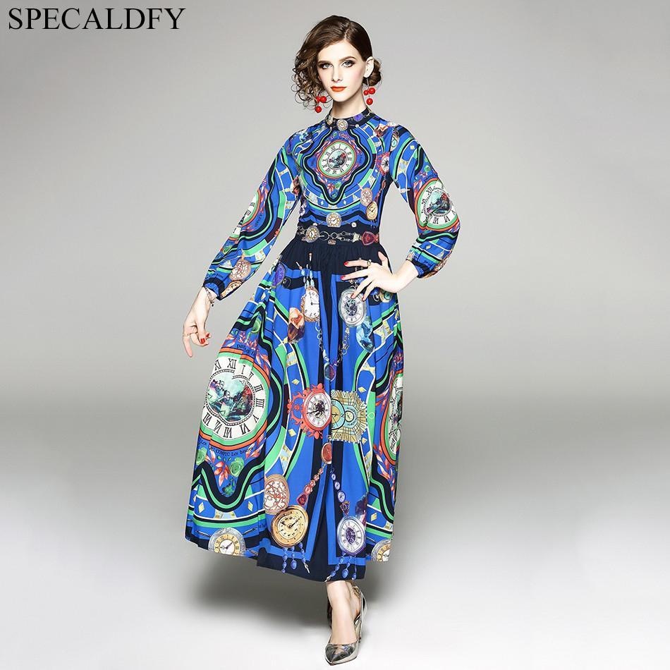 257ce61610 Retro Vintage Bohemian Maxi Dress Summer Long Dress Runway Designer 2018  High Quality Women Long Sleeve Print Luxury White Lace Dress Casual Green  Dresses ...