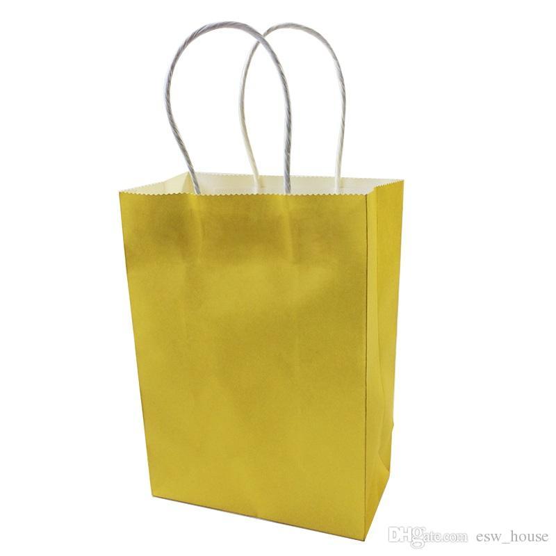 DIY متعددة الوظائف اللون لينة كيس ورقي مع أكياس حقيبة مقابض / 21x15x8cm / هدية مهرجان / عالية الجودة للتسوق ورق الكرافت
