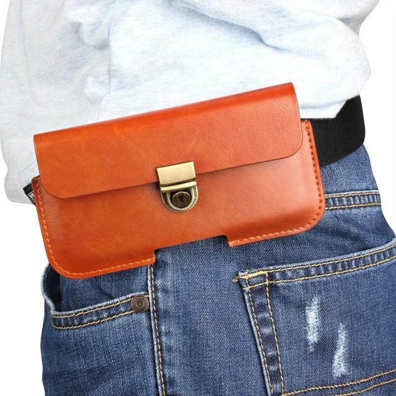 Caso de cobertura de bolsa de Clipe de cinto de couro universal PU para Lava A76 / Flair S1