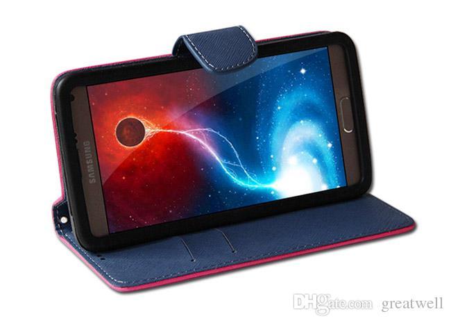 العالمي بو الجلود حالة المحفظة بطاقة الائتمان فليب حالة الهاتف 3.5inch إلى 6.0inch ل فون سامسونج هواوي LG XiaoMI