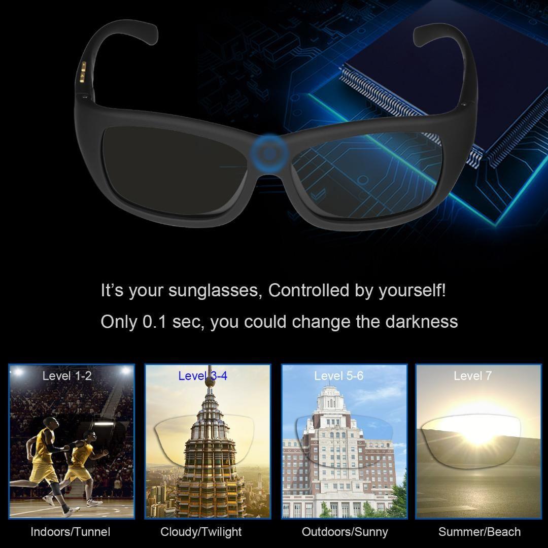 f59ff82b324 Original Design Sunglasses LCD Polarized Lenses Transmittance Darkness Adjustable  Electronic Control Lenses For Driving Fishing Prescription Glasses Online  ...