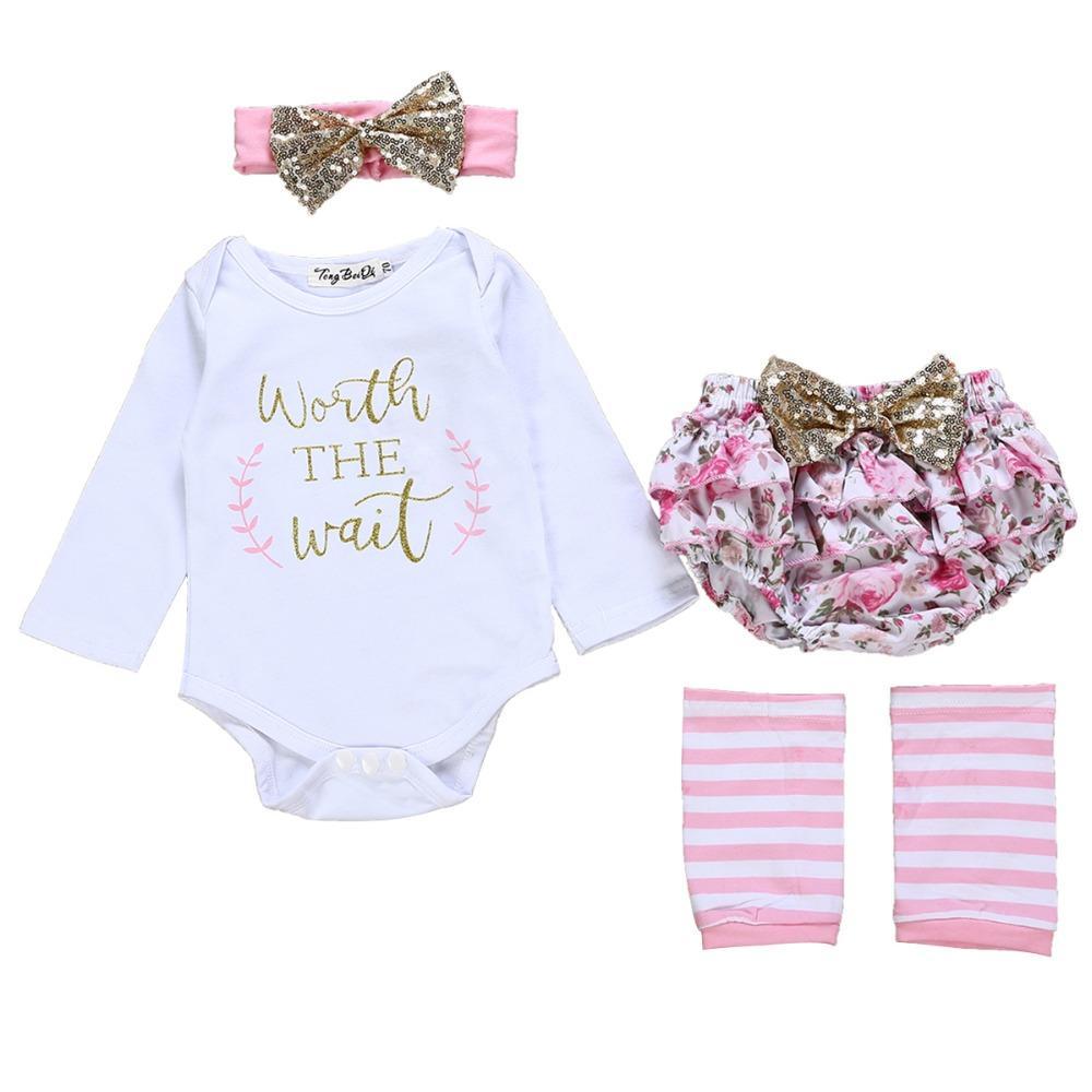 a3d934e9e 2019 Puseky Infant Romper Set Newborn Baby Girls Letter Printed ...