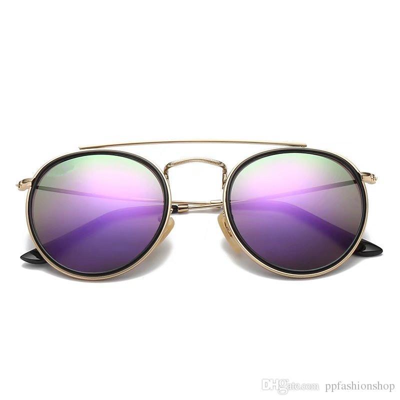 3647 Marka güneş gözlüğü erkek kadın moda güneş gözlükleri Retro gözlük marka tasarım yuvarlak çerçeve uv400 Gözlüğü Moda retro gözlük