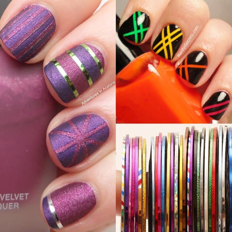 1mm Nail Striping Tape Line Diy Nail Art Adhesive Decal Manicure Art